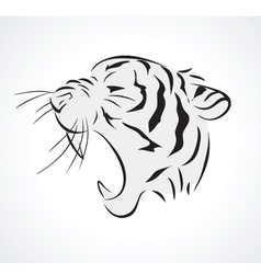 tiger side vector image vector image