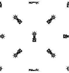toy jumping out of box pattern seamless black vector image vector image