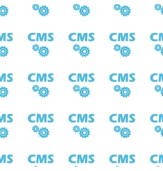 Unique cms seamless pattern vector