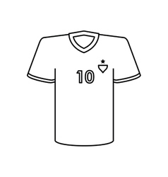 Tshirt of soccer sport design vector