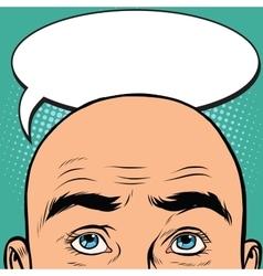 Thoughts men bald head vector image