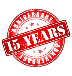 15 years anniversary stamp vector