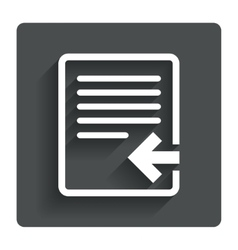 Import file icon file document symbol vector