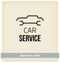 Car service sign vector