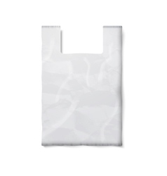 Blank plastic bag with place for your design and vector