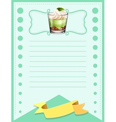 Paper design with cake in glass vector