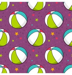 seamless pattern with colorful balls vector image