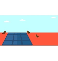 Background of solar panel on the roof vector