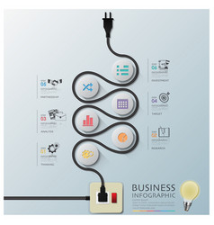 Curve electric wire line diagram business vector