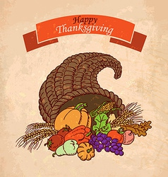 background Thanksgiving Day Greeting Card vector image vector image