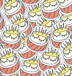 Birthdays cake seamles background vector