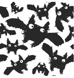 black ink bats pattern vector image
