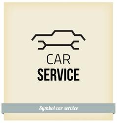 Car service sign vector