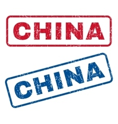 China rubber stamps vector