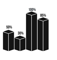 Column graph icon simple style vector