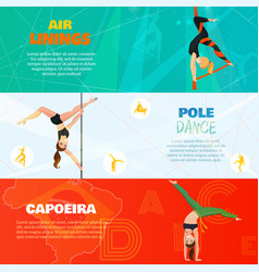 Dance horizontal banners vector