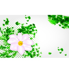 Decorative composition with grunge flower vector image vector image