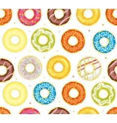 Donut Set Background Pattern vector image vector image