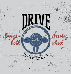 Driving safely poster vector