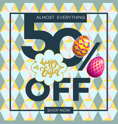 easter egg sale banner background template 19 vector image vector image