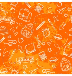 Grungy school pattern vector