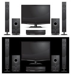 home theatre vector image
