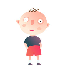 Little kid boy standing vector