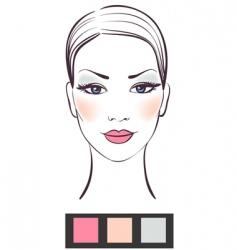 makeup template vector image