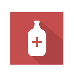 Medical bottle icon vector