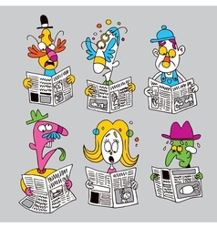 Newspaper readers vector
