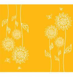 orange flower vector image