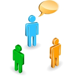 People discussion vector image