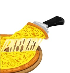 Pizza cheese slices vector