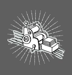 Printshop logo vector image vector image