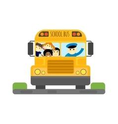 School bus isolated vector