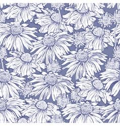 Seamless flower camomile vector