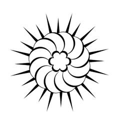 Sun black simple icon vector image vector image