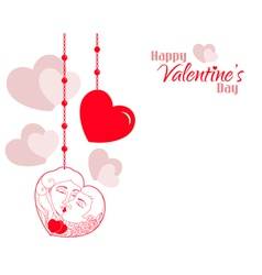Valentine Couple Hearts Background vector image