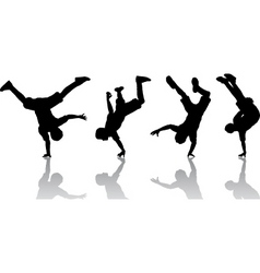 Break dancers vector