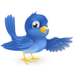 bluebird pointing vector image