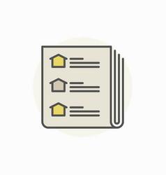 Real estate newspaper icon vector