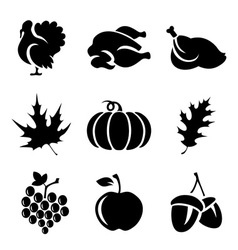 Thanksgivin icons vector