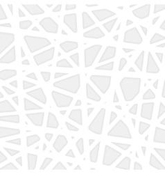 White geometric background vector