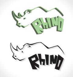 rhino C vector image