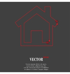 House flat modern web button and space for your vector