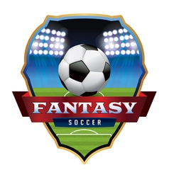 Fantasy soccer badge vector