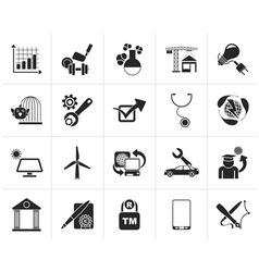 Black internet and website portal icons vector