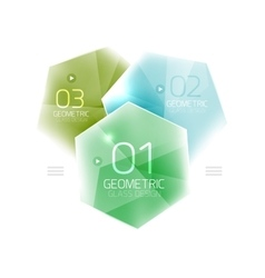 Glass color hexagons vector