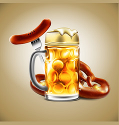 advertising food and drink elements for vector image vector image