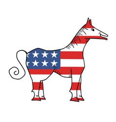 american horse vector image vector image